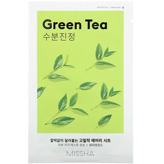 Missha, Airy Fit Sheet Mask, Green Tea, 1 Sheet Mask
