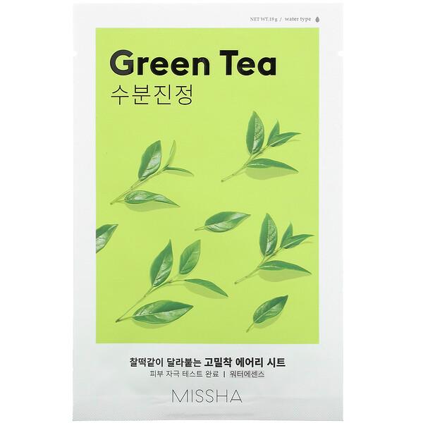 Airy Fit Beauty Sheet Mask, Green Tea, 1 Sheet, 19 g