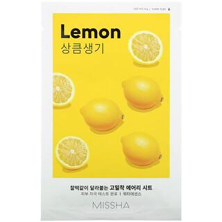 Missha, Airy Fit Sheet Mask, Lemon, 1 Sheet Mask