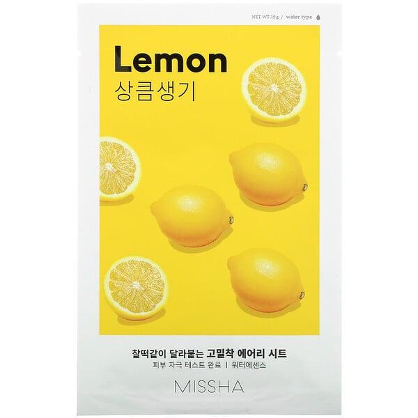 Airy Fit Beauty Sheet Mask, Lemon, 1 Sheet, .19 g