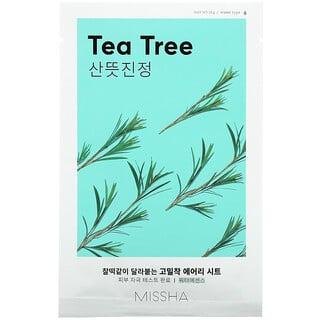 Missha, Airy Fit Sheet Mask, Tea Tree, 1 Sheet Mask