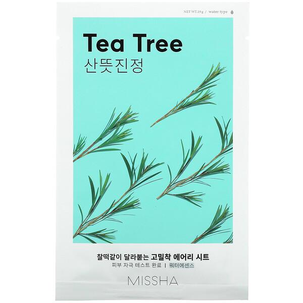 Missha, Airy Fit Beauty Sheet Mask, Tea Tree, 1 Sheet, 19 g