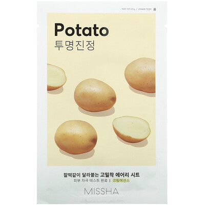Купить Missha Airy Fit Beauty Sheet Mask, Potato, 1 Sheet, 19 g