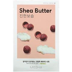 Missha, Airy Fit 美容面膜,乳木果油,1 片,19 克