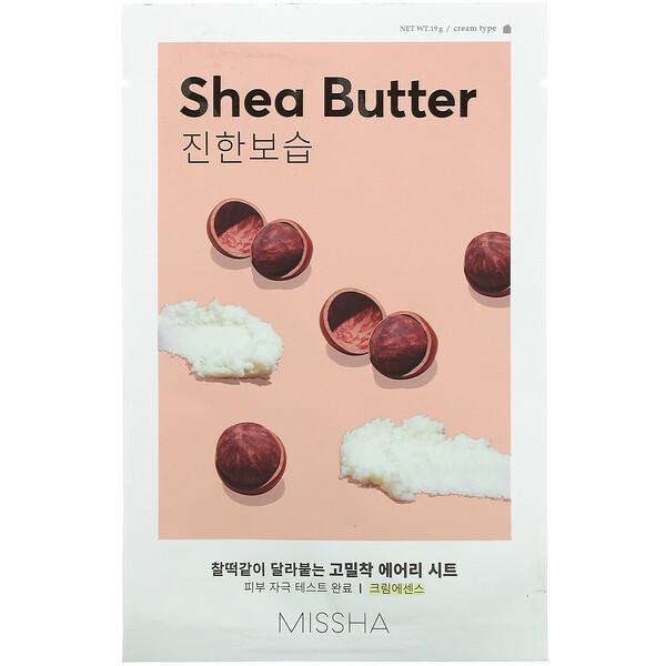 Airy Sheet Mask, Shea Butter, 1 Sheet Mask