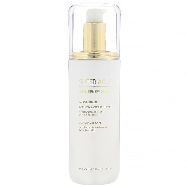 Missha, Super Aqua, Cell Renew Snail, Hidratante, 130 ml (4,39 fl oz)