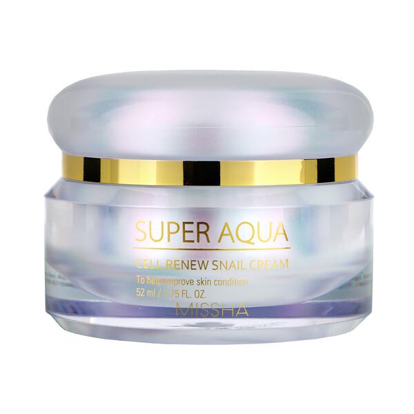Super Aqua, Cell Renew Snail Cream, 1.75 fl oz (52 ml)