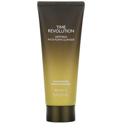 Купить Missha Time Revolution, Artemisia Pack Foam Cleanser, 5.07 fl oz (150 ml)