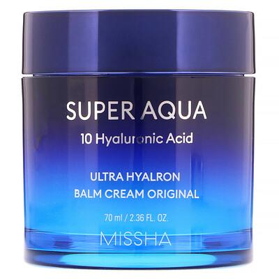 Missha Super Aqua, Ultra Hyalron Balm Cream Original, 2.36 fl oz (70 ml)