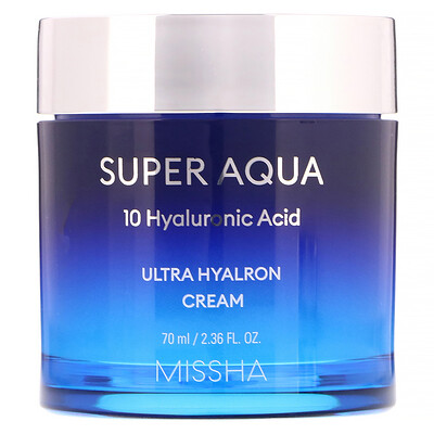 Missha Super Aqua, Ultra Hyalron Cream, 2.36 fl oz (70 ml)