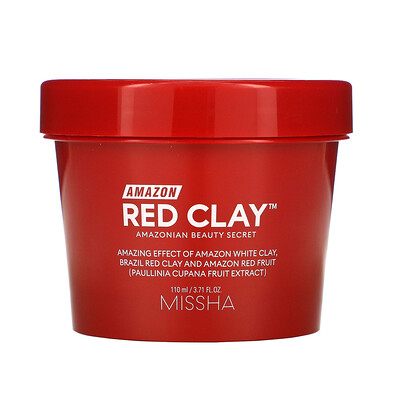 Купить Missha Amazon Red Clay, Pore Mask, 3.71 fl oz (110 ml)