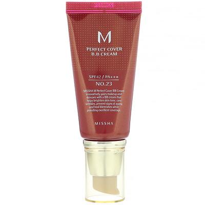 Missha M Perfect Cover, BB-крем, SPF42 PA+++, оттенок 23натуральный бежевый, 50мл (1,7унции)