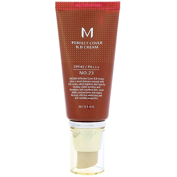 Missha, M Perfect Cover BB Cream, No. 23 Natural Beige, 50 ml (Discontinued Item)