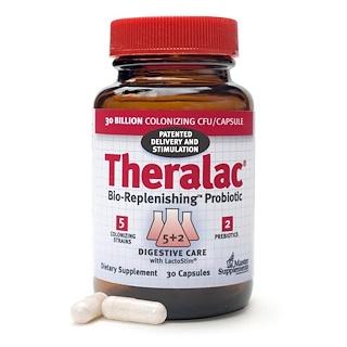 Master Supplements, Theralac, Bio-Replenishing Probiotic, 30 Capsules