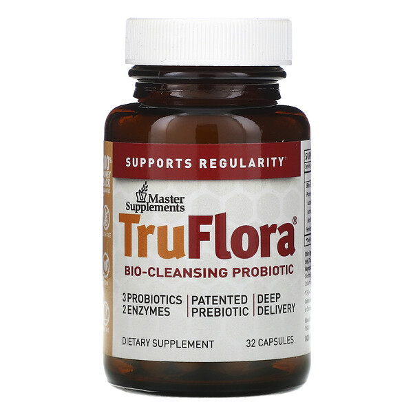 Master Supplements, TruFlora, Bio-Cleansing Probiotic, 32 Capsules (Discontinued Item)