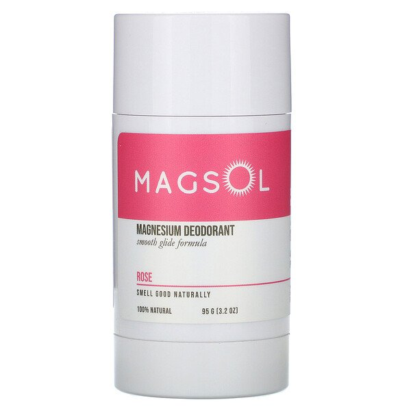 Magnesium Deodorant, Rose,  3.2 oz (95 g)