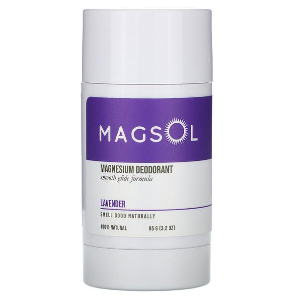 Magnesium Deodorant, Lavender, 3.2 oz (95 g)