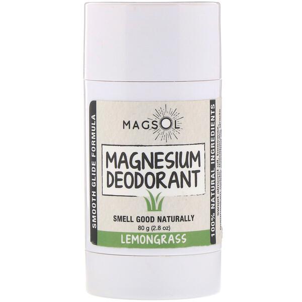 Magnesium Deodorant, Lemongrass, 2.8 oz (80 g)