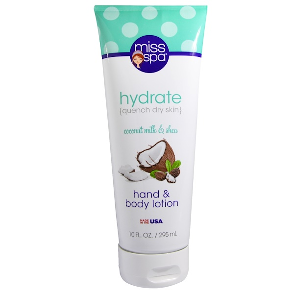 Miss Spa, Hydrate, Hand & Body Lotion, Coconut Milk & Shea, 10 fl oz (295 ml) (Discontinued Item)