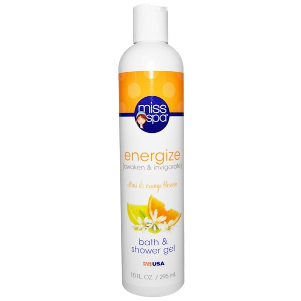 Miss Spa, Energize, Bath & Shower Gel, Citrus & Orange Blossom, 10 fl oz (295 ml) (Discontinued Item)