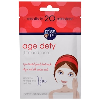 Miss Spa, Age Defy, 1 Pre-Treated Facial Sheet Mask