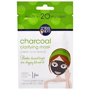 Мисс Спа, Charcoal Clarifying Mask, 1 Facial Sheet Mask отзывы покупателей
