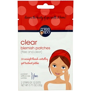 Miss Spa, Clear, Blemish Patches, 24 Spots