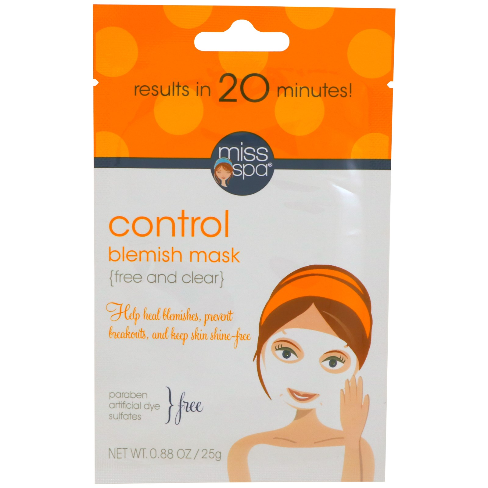 Miss Spa, Control, Blemish Mask, 1 Mask
