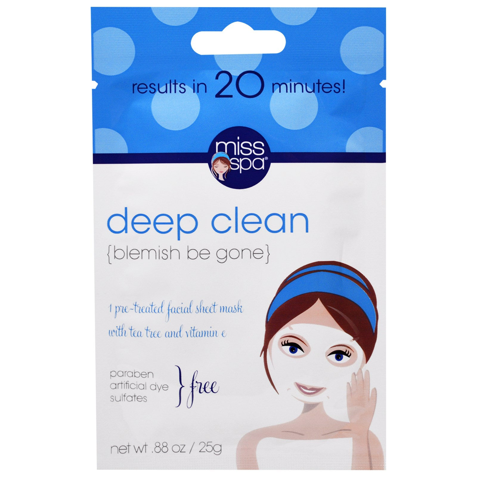 Miss Spa Brighten Pre-Treated Facial Sheet Mask, 0.88 oz Guinot Radiance Renewal Cream 50ml/1.7oz