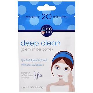 Miss Spa, Deep Clean, 1 Pre-Treated Facial Sheet Mask