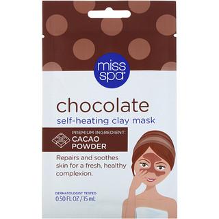 Miss Spa, Chocolate Self-Heating Clay Mask, 0.50 fl oz (15 ml)