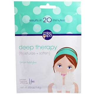 Miss Spa, Deep Therapy, 1 Pair Pre- Treated Gloves, 0.49 oz (14 g)