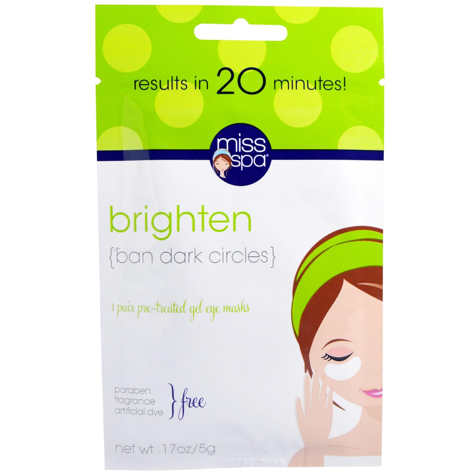 Miss Spa, Energize, Pre-Treated Gel Eye Masks, 1 Pair(pack of 4) Mario Badescu - Peptide Renewal Serum - 29ml/1oz