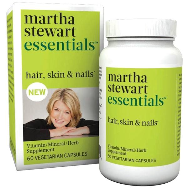 Martha Stewart Essentials, Hair, Skin & Nails, 60 Veggie Caps (Discontinued Item)