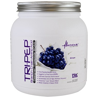 Metabolic Nutrition, Tri-Pep, Branch Chain Amino Acid, Grape , 400 g