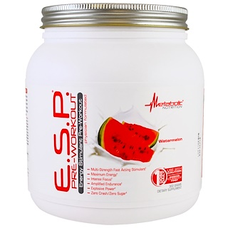 Metabolic Nutrition, E.S.P. Pre-Workout, Watermelon, 300 g