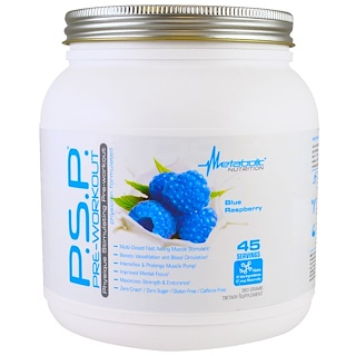 Metabolic Nutrition, P.S.P. Pre-Workout, Blue Raspberry, 360 g