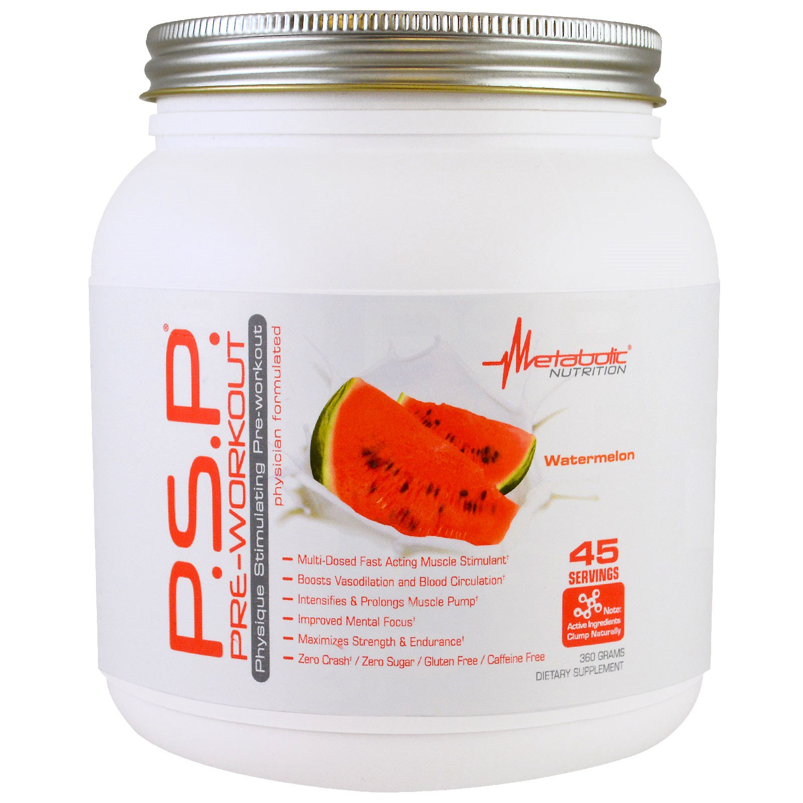 Metabolic Nutrition, P.S.P. Pre-Workout, Watermelon, 360 g (Discontinued  Item)