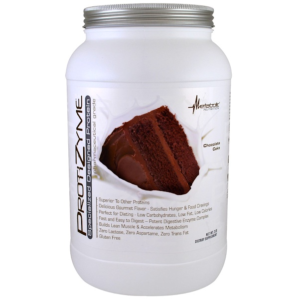 Metabolic Nutrition, ProtiZyme, Specialized Designed Protein, Chocolate Cake, 2 lbs (Discontinued Item)