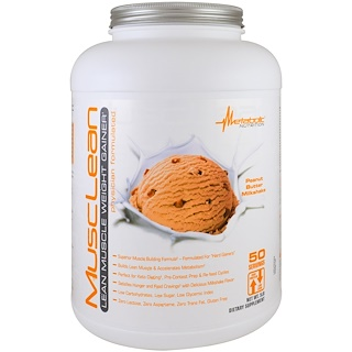 Metabolic Nutrition, MuscleLean, Lean Muscle Weight Gainer, Peanut Butter Milkshake, 5 lb