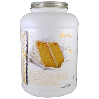 Metabolic Nutrition, ProtiZyme, Specialized Designed Protein, Vanilla Cake, 5 lbs