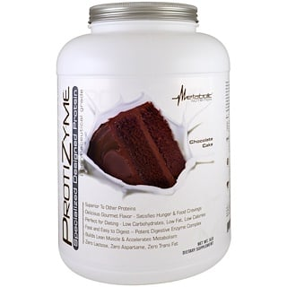 Metabolic Nutrition, ProtiZyme, Specialized Designed Protein, Chocolate Cake , 5 lbs