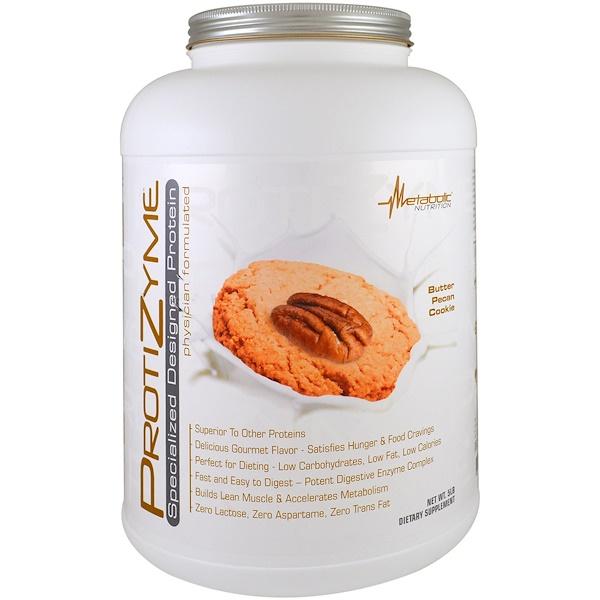 Metabolic Nutrition, ProtiZyme,專業設計的蛋白質,黃油核桃曲奇,5磅
