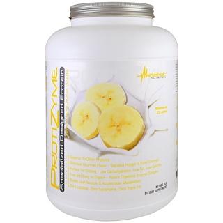 Metabolic Nutrition, ProtiZyme, специально разработанный протеин, банан-сливки, 5 фунтов