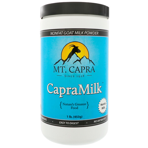 Mt. Capra, CapraMilk, Non-Fat Goat Milk Powder, 1 lb (453 g)
