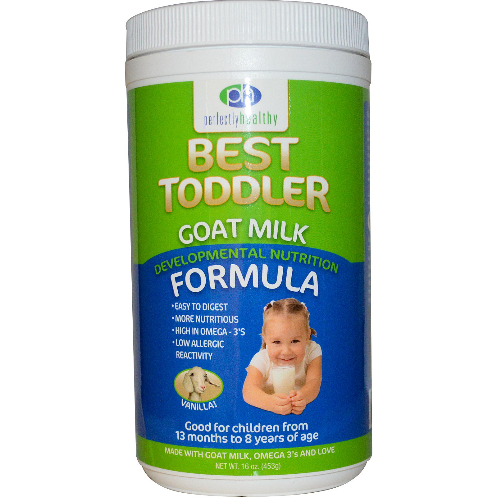 daacce96 Mt. Capra, Perfectly Healthy, Best Toddler Goat Milk Formula, Vanilla, 16  oz (453 g) (Discontinued Item)