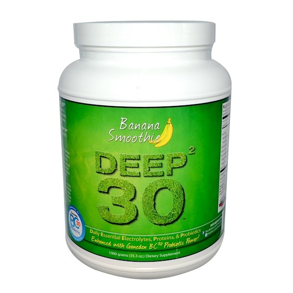 Mt. Capra, Deep² 30, Goat Milk Protein, Banana Smoothie, 2 lb (907 g) (Discontinued Item)