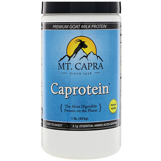 Mt. Capra, Caprotein, Premium Goat-Milk Protein, Natural Vanilla, 1 lb. (453 g)