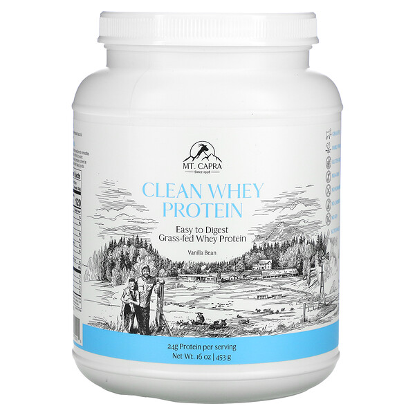 Clean Whey Protein, Vanilla Bean, 16 oz (453 g)