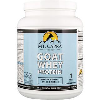 Mt. Capra, Goat Whey Protein, Unsweetened, 1 Pound (453 g)